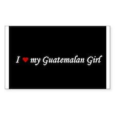 I Love My Guatemalan Girl Rectangle Decal