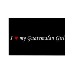 I Love My Guatemalan Girl Rectangle Magnet (10 pac