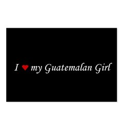I Love My Guatemalan Girl Postcards (Package of 8)