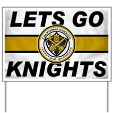 Cal Knights Hockey Fan Yard Sign