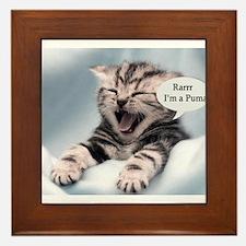 Unique Funny cat Framed Tile