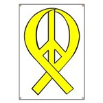 Yellow Peace Ribbon Banner