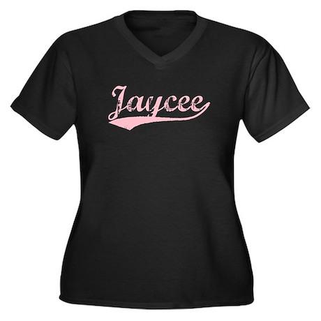 Vintage Jaycee (Pink) Women's Plus Size V-Neck Dar