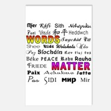 PEACE in 29 Languages Postcards (Package of 8)