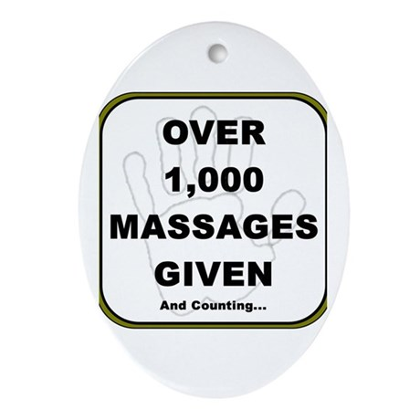Massage Clients Served Oval Ornament
