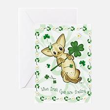 Irish Chihuahua Pup Greeting Card