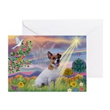 Cloud Star & Jack Russell Terrier Greeting Card