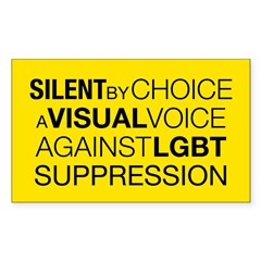 Silent By Choice Rectangle Sticker 10 pk)