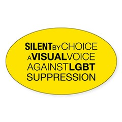 Silent By Choice Oval Sticker (50 pk)