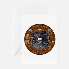World Drum Circle Greeting Cards (Pk of 10)