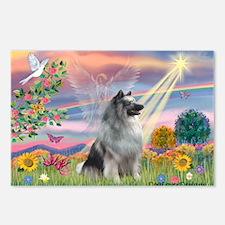 Cloud Angel/Keeshond #2 Postcards (Package of 8)