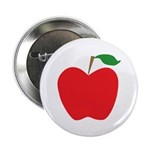 "Red Apple 2.25"" Button"