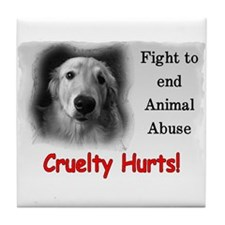 Cruelty Hurts! Tile Coaster