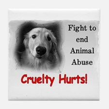 Cruelty Hurts! Tile Coaster