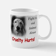 Cruelty Hurts! 2-sided Mug