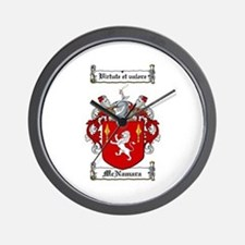McNamara Family Crest Wall Clock