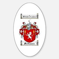 McNamara Family Crest Oval Decal