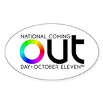 The Big OUT Oval Sticker (50 pk)