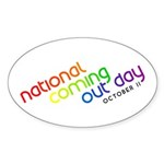 NCOD Inclined Oval Sticker (50 pk)