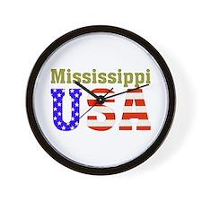 Mississippi USA Wall Clock