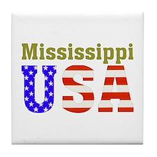 Mississippi USA Tile Coaster