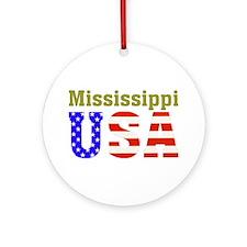Mississippi USA Ornament (Round)