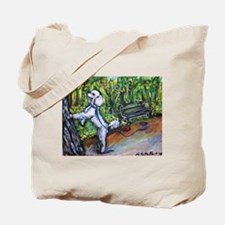 Poodle squirrel chaser Tote Bag