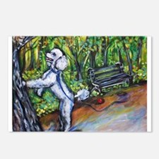 Poodle squirrel chaser Postcards (Package of 8)