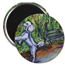 """Poodle squirrel chaser 2.25"""" Magnet (100 pack)"""