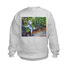 Poodle squirrel chaser Sweatshirt