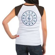 New Blue Circle of Fifths Women's Cap Sleeve T