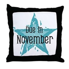 Blue Star Due In November Throw Pillow