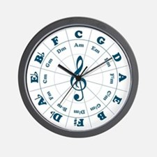 New Blue Circle of Fifths Wall Clock
