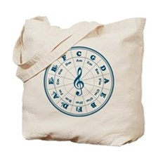 New Blue Circle of Fifths Tote Bag