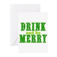 Drink and be Merry Greeting Cards (Pk of 10)