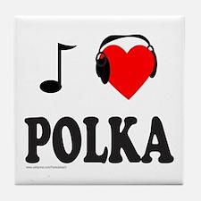 POLKA MUSIC Tile Coaster