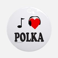 POLKA MUSIC Ornament (Round)