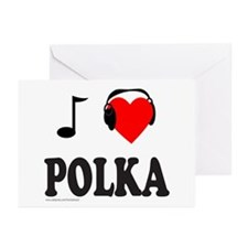 POLKA MUSIC Greeting Cards (Pk of 20)