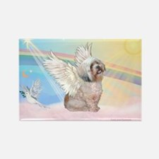 Clouds / Lhasa Apso Rectangle Magnet