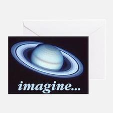 "Blank notecards ""Imagine Saturn"" (Pk of 10)"
