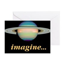 Blank notecards Saturn Imagine (Pk of 10)