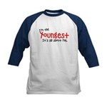 I'm the youngest Kids Baseball Jersey
