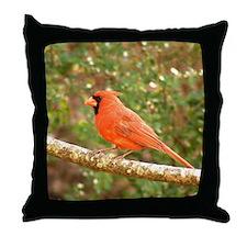 Right Elegant Cardinal Throw Pillow
