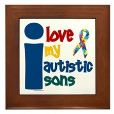I Love My Autistic Sons 1 Framed Tile