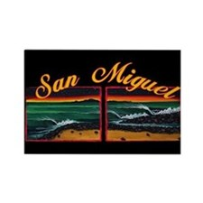 San Miguel Rectangle Magnet