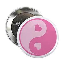 "Pink Yin Yang Symbol 2.25"" Button"