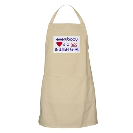 EVERYBODY LOVES A HOT JEWISH GIRL BBQ Apron