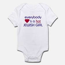 EVERYBODY LOVES A HOT JEWISH GIRL Infant Bodysuit