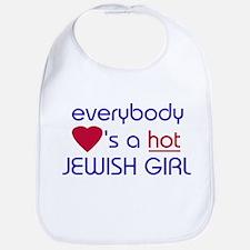 EVERYBODY LOVES A HOT JEWISH GIRL Bib