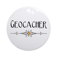 Geocacher Ornament (Round)
